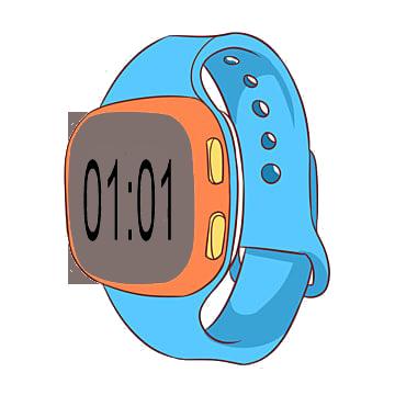 01-01 in digital watch