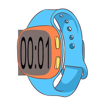 00-01 in digital watch